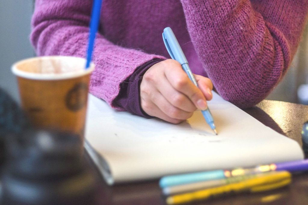 Using bullet journals for writing
