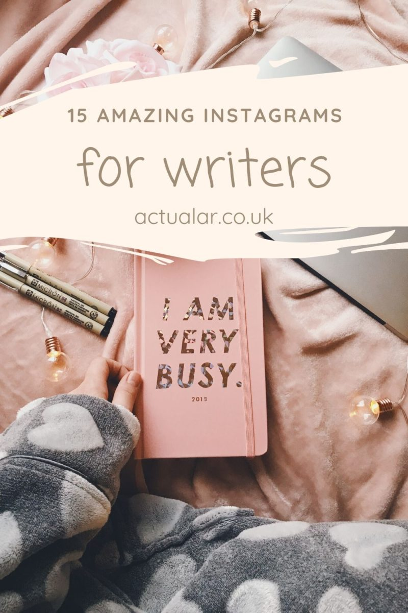 Instagrams for writers